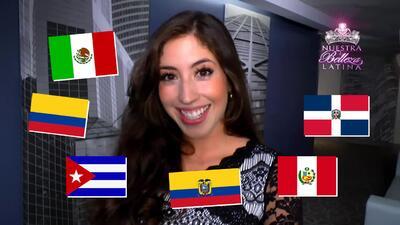 Belleza latina imita la forma de hablar de personas de diferentes países