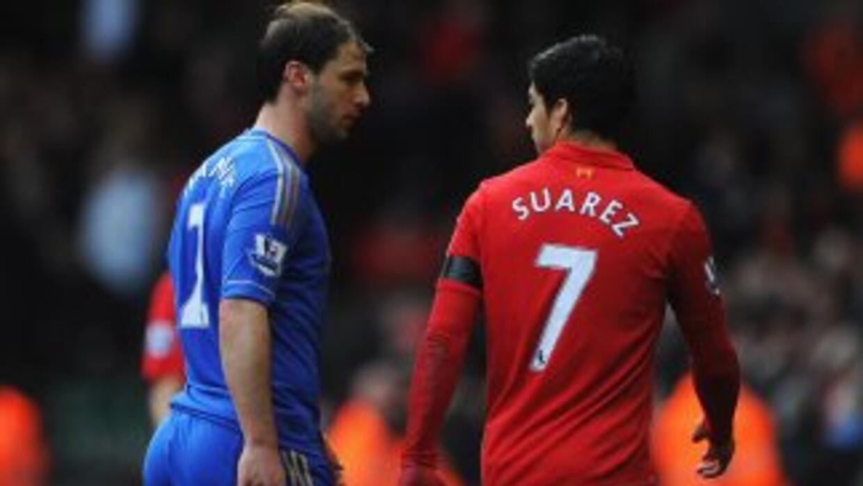 Suárez reaccionó de forma inaceptable con Ivanovic.