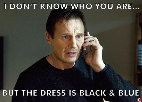 Liam Neeson en 'Taken' nos ordena el color que debemos ver.