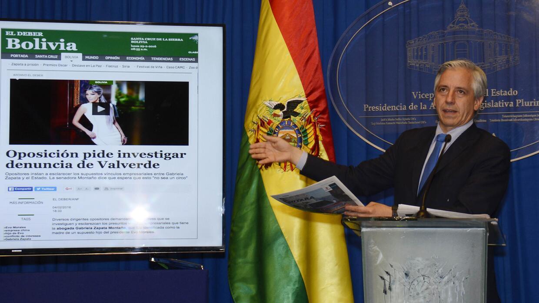 """El vicepresidente Álvaro García Linera denunció una """"articulación políti..."""