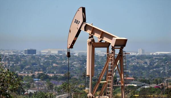 Pozo petrolero en Culver City, al oeste de Los Ángeles