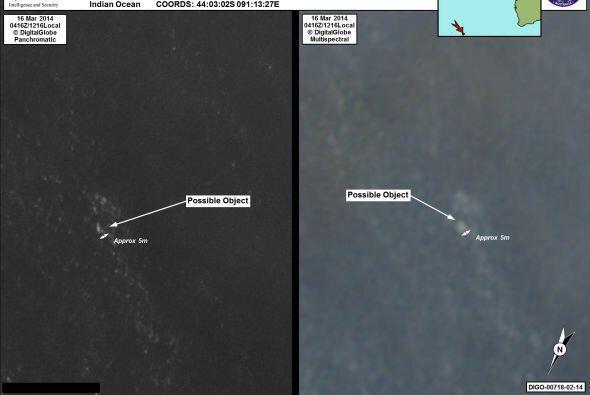 Podría haber otros objetos en aguas cercanas en una zona a cuatro horas...