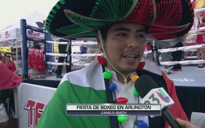 Fiesta mexicana con El Canelo en el AT&T Stadium