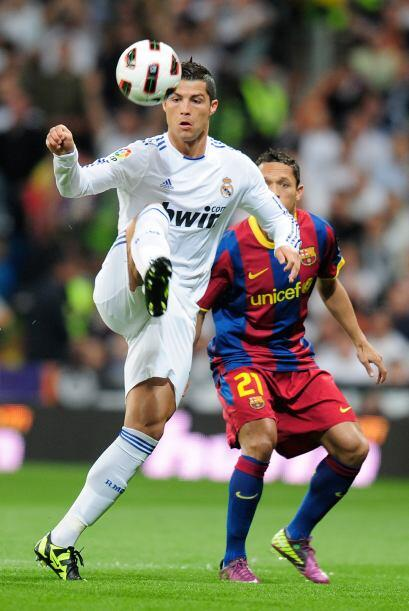 Cristiano Ronaldo imprimió velocidad en los contragolpes del Real Madrid.