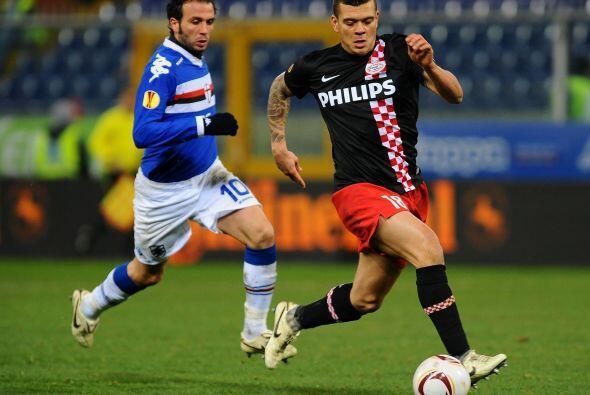 El PSV Eindhoven se metió a la casa de la Sampdoria en un duelo clave pa...