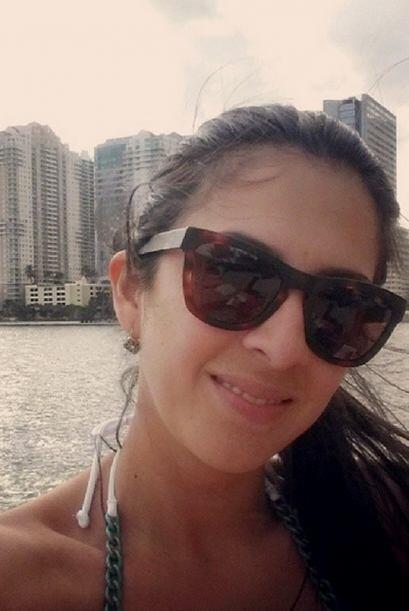 Después de una semana muy ajetreada, Maity Interiano se prepara en Miami...