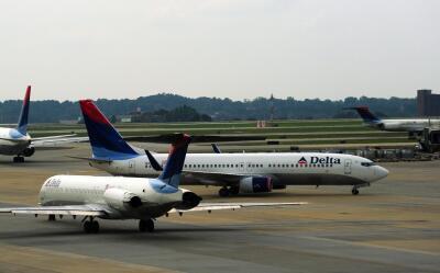 Aeronaves de la compañía Delta.