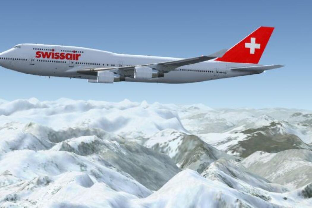 49- 415 personas han muerto en 15 incidentes de Swissair. Foto: SwissAir.