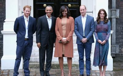 Así fue la reunión de Kate, William y Harry con Barack y Michelle Obama.