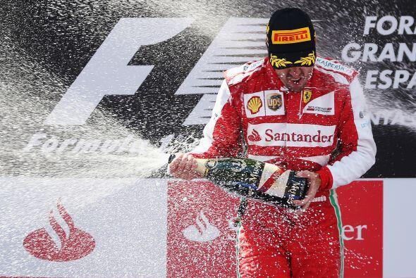 El español Fernando Alonso (Ferrari) repitió éxito en Montmeló tras siet...