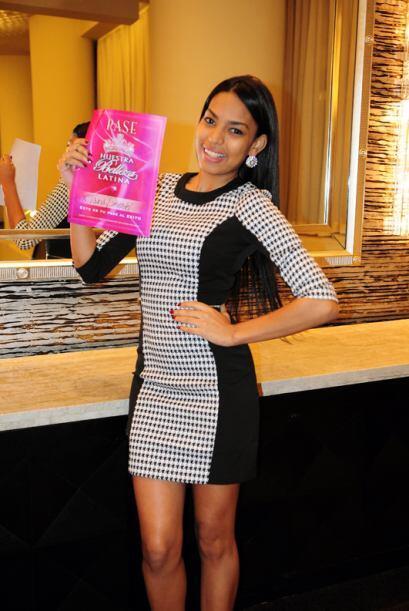Taina Pimentel de República Dominicana, audicionó en Nueva York. Ella es...