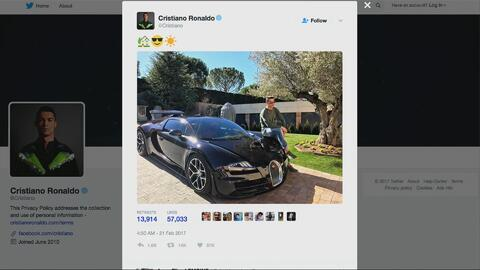 Cristiano Ronaldo agregó un nuevo autito a su colección: cuesta casi dos...