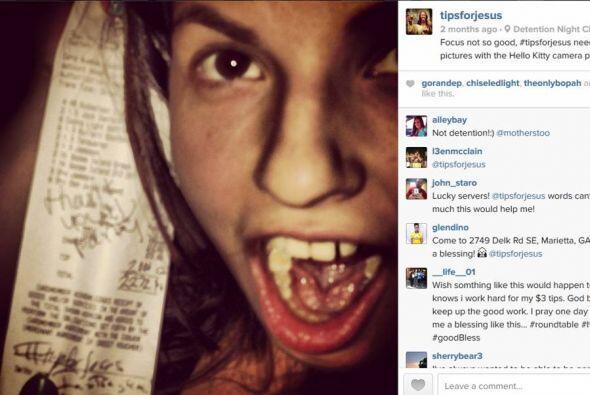 En su cuenta de Instagram se ven los recibos con las caras de los conten...