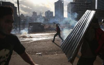 Impactante represión policial en Venezuela