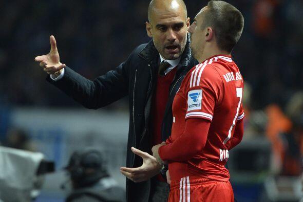 Guardiola preparaba así a Ribery para enviarlo a la cancha a amarrar el...