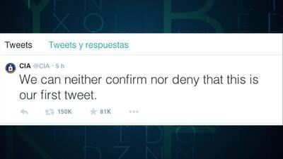 El primer tweet de la CIA