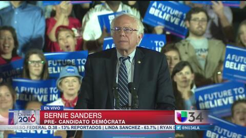 Bernie Sanders invita a sus partidarios a seguir en la lucha