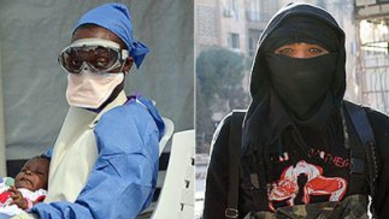 La amenaza del mortal virus de ébola y el avance del Estado Islámico son...