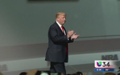 Donald Trump se convirtió en el primer presidente en asistir a la conven...