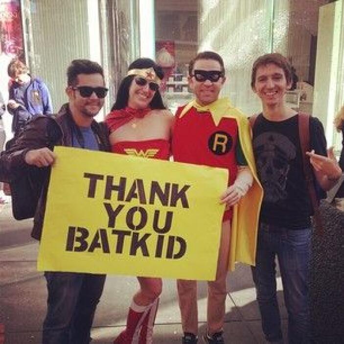 Incluso hubo quienes se disfrazaron de superhéroes. Usuario @jardsonarau...