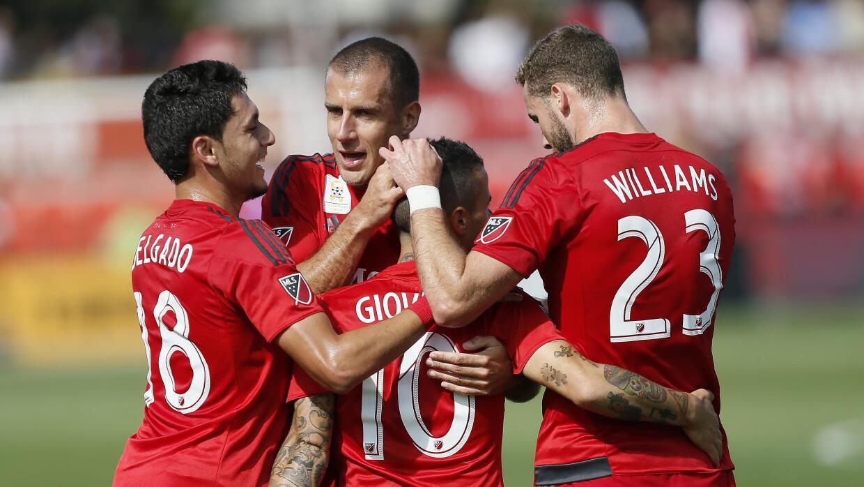 Toronto FC celebra un gol