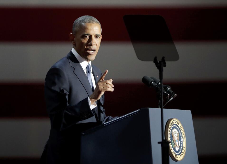 Obama en su discurso de despedida