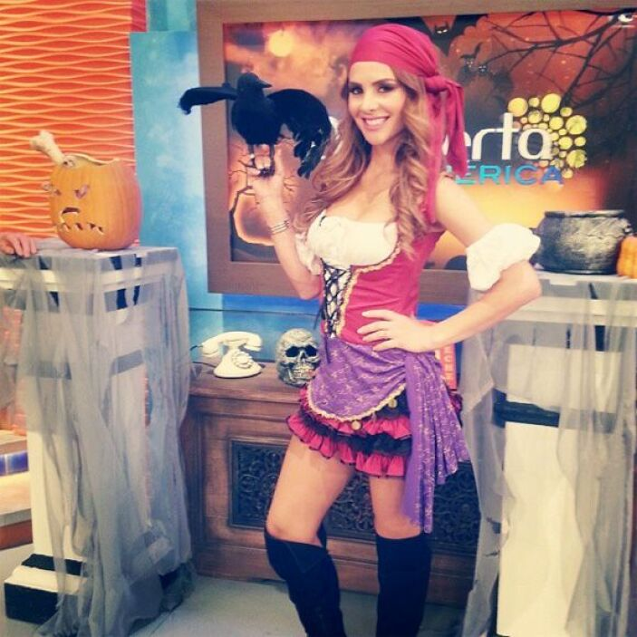 """""""Hoy en @despiertaamericatv soy toda una pirata en busca de un tesoro"""",..."""