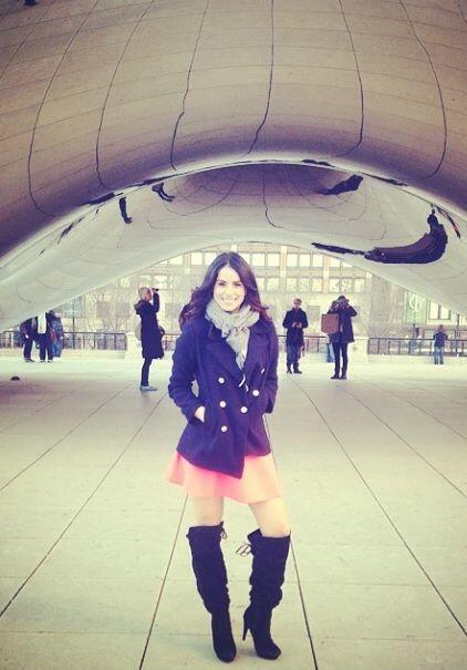 Un día increíble en la vida de Vanessa visitando Chicago.