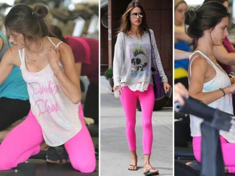¡Alessandra Ambrosio es fanática de los pilates al igual qu...