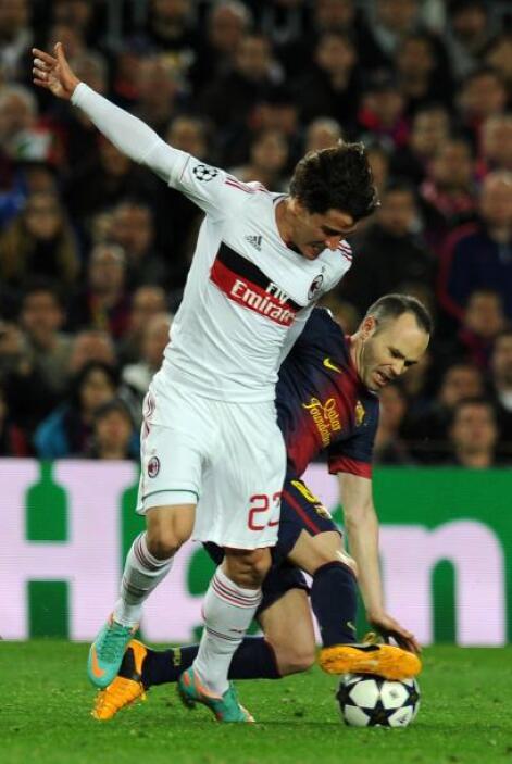 Andrés Iniesta fue otro que causó problemas a la defensa con su buen reg...