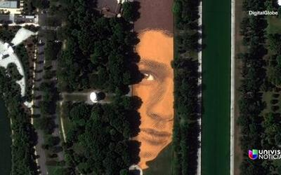 Una obra de arte gigante toma Washington, DC