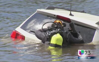 Joven muere ahogado al caer su auto al río Miami