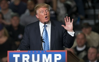El precandidato republicano Donald Trump en un evento en Columbus, Ohio.