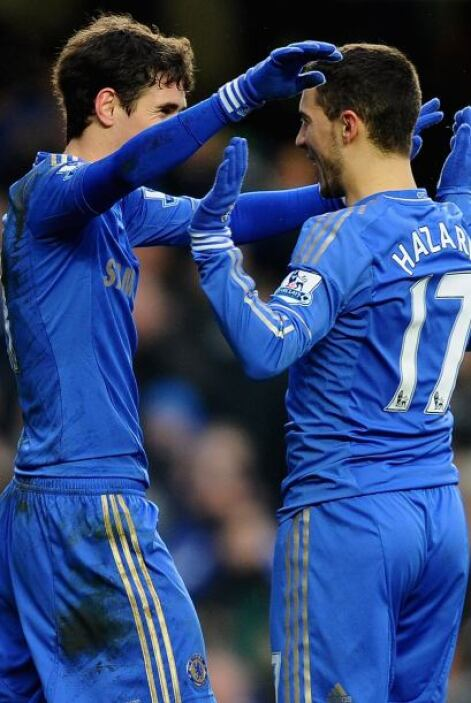 En la segunda parte Eden Hazard amplió la ventaja.