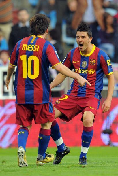 La dupla Messi-Villa funciona de la mejor manera y el Barcelona suma tri...