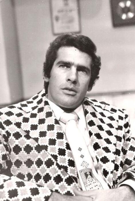 """Andrés García en 1975 cuando trabajaba en la telenovela """"Paloma""""."""