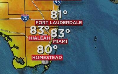 Cielo mayormente soleado y temperaturas cálidas para este jueves en Miami