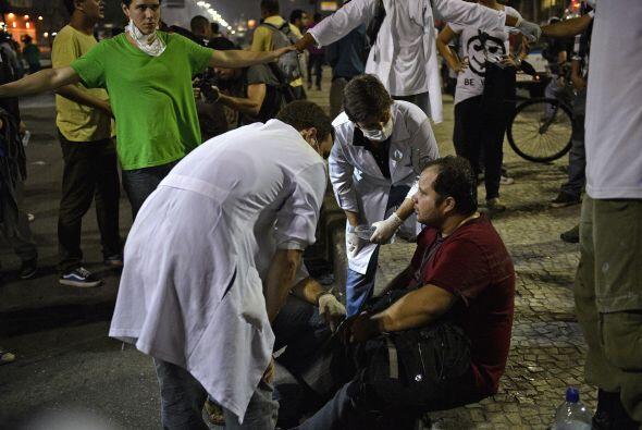 La televisión Globo mostró imágenes de uno de sus p...