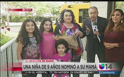 """Última ganadora del concurso """"Al Rescate de Mamá"""""""