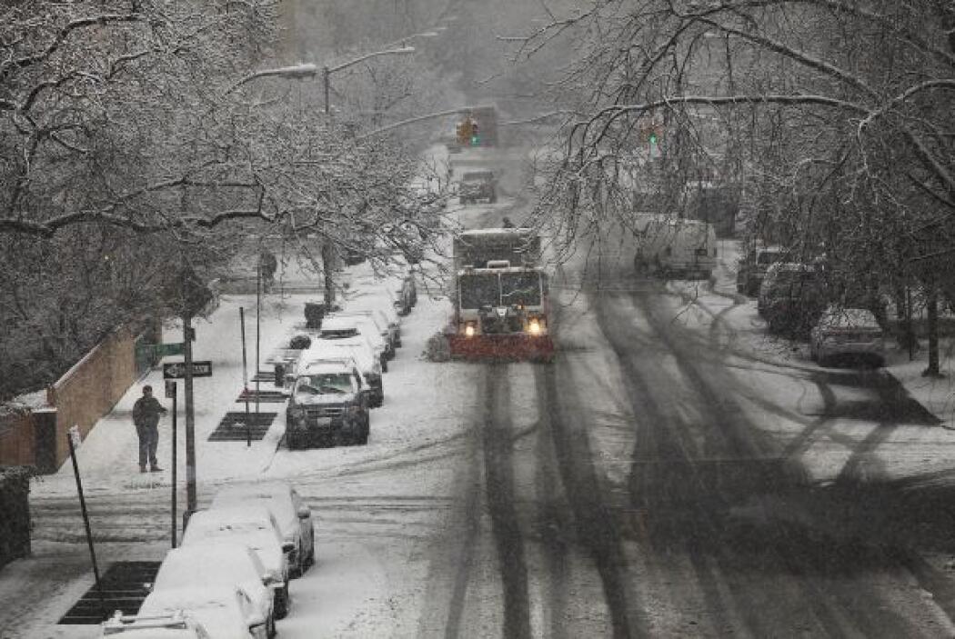 Una tormenta invernal pintó de blanco el Noreste del país por primera ve...