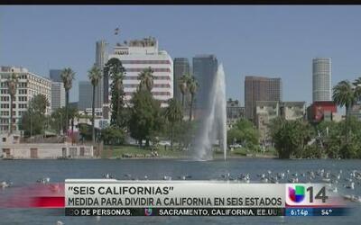 'Seis Californias', una medida para dividir a California en seis Estados