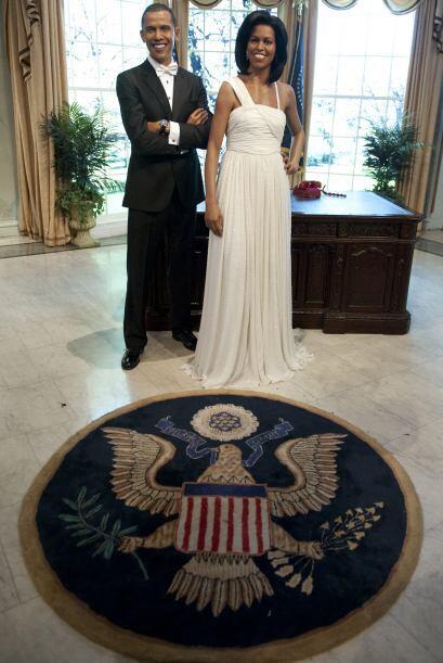 La pareja presidencial de Estados Unidos, Barack y Michelle Obama quedar...
