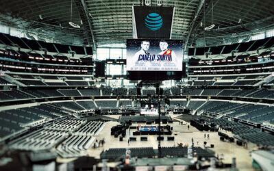 Así se viste el AT&T Stadium para la pelea entre Canelo y Smith