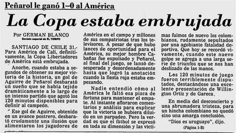 La Libertadores se le negó cuatro veces al América de Cali