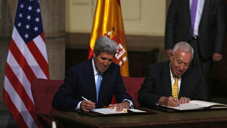 John Kerry y José Manuel García Margallo