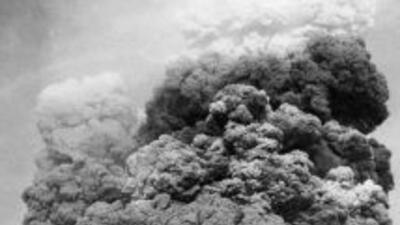 Así se vio la erupción del volcán Puyehue en el año de 1960.