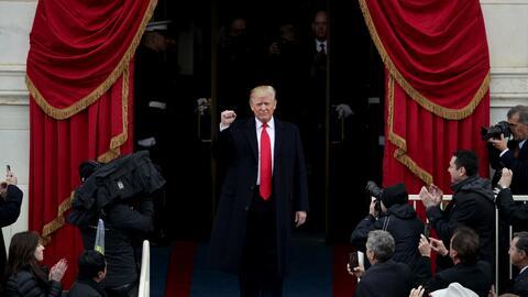 Trump ofreció sus primeras palabras como presidente 45 de EEUU.