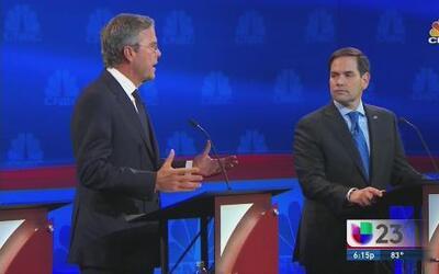 Mal vistos los ataques de Bush a Rubio durante debate