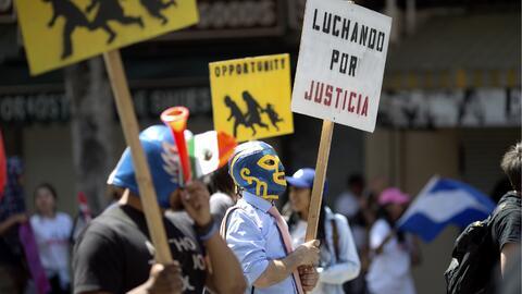 Marcha del 1 de mayo de 2016 en Los Ángeles.