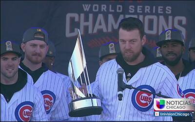 Gran desfile de los jugadores de los Cubs en la ciudad